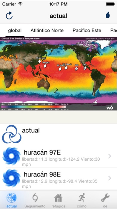 Screenshot for Rastreo de huracán-- from NOAA in Peru App Store