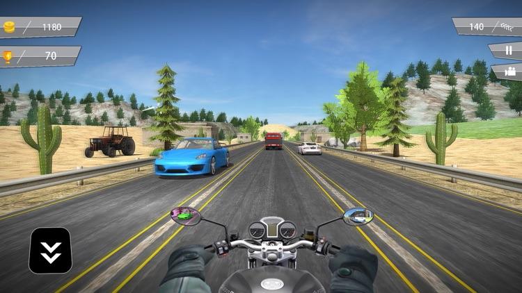 Highway Motorbike Traffic Rider 3D screenshot-4