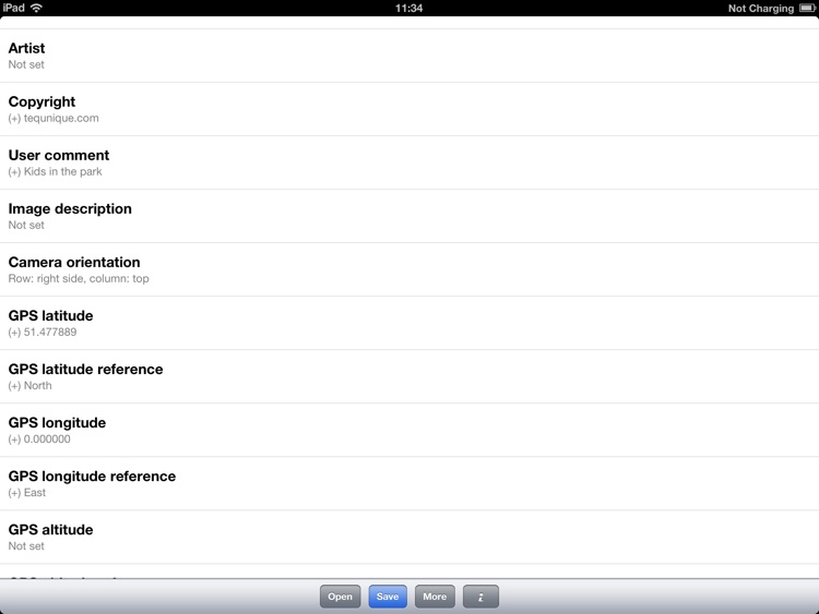 Exif Editor (iPad Edition)