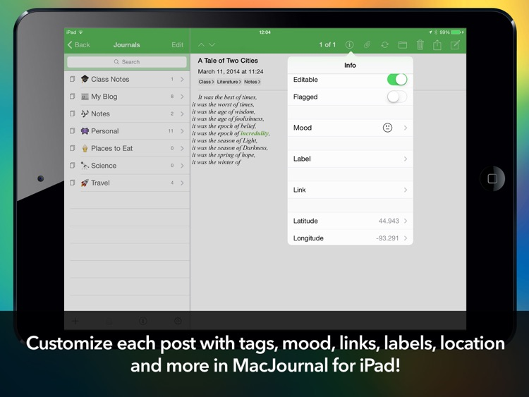 MacJournal for iPad screenshot-3