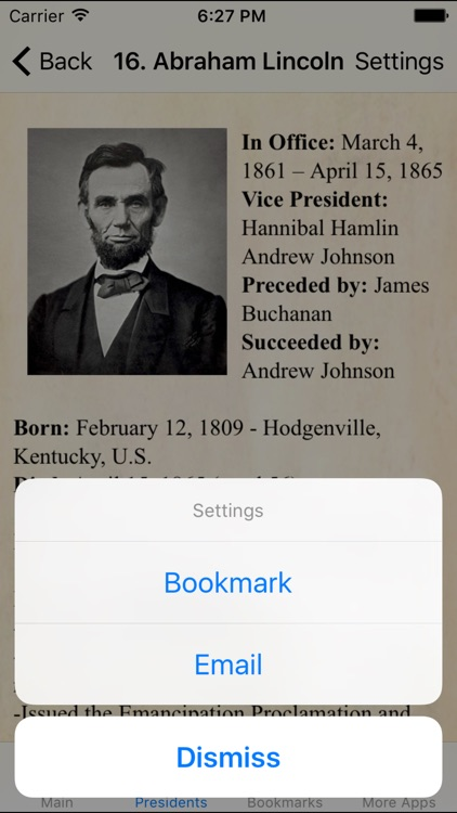 U.S.A. Presidents Pocket Reference Historic Guide