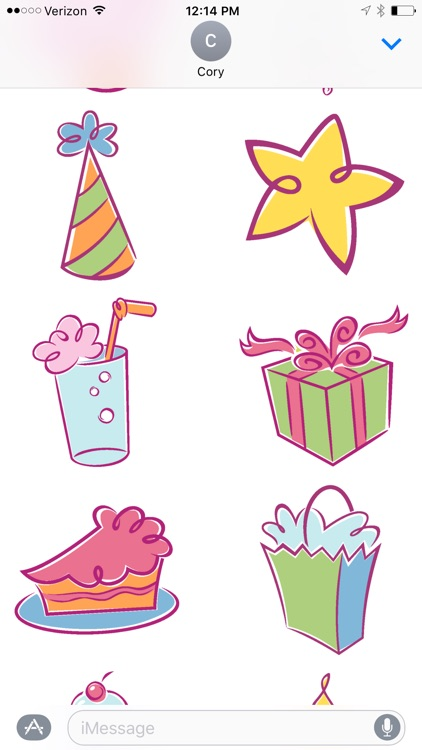 Birthday Design Sticker Pack