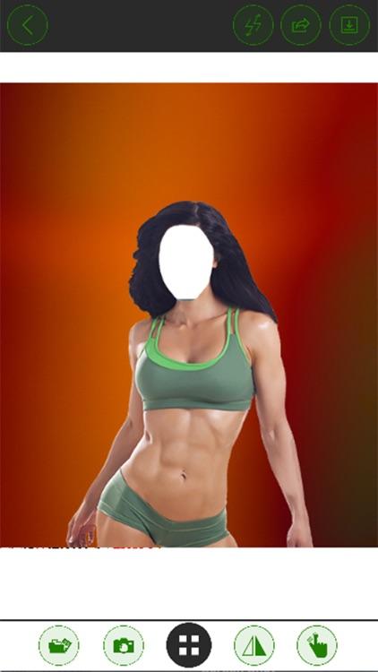 Fitness Girl Suit Photo Editor - Best Female Fitness Models screenshot-3