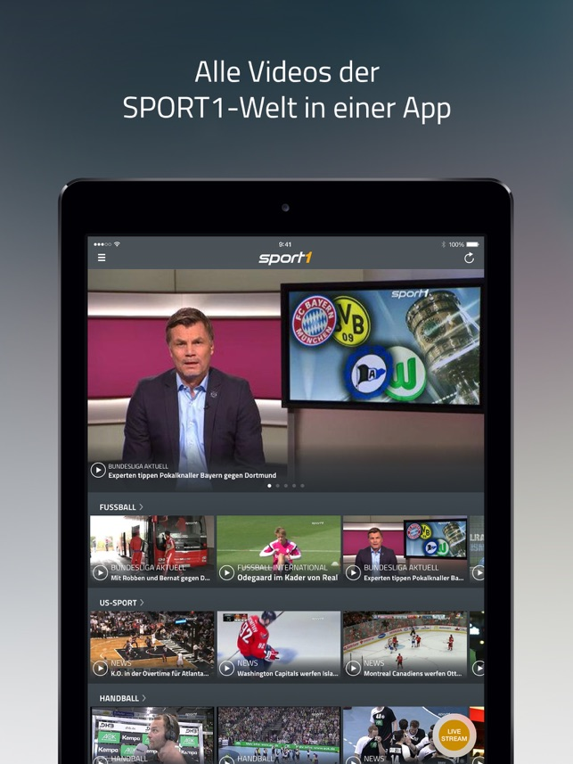 SPORT1 Video, Sport Clips & TV Screenshot