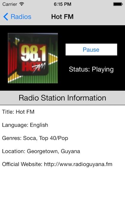 Guyana Radio Live Player (Georgetown / English) screenshot-4