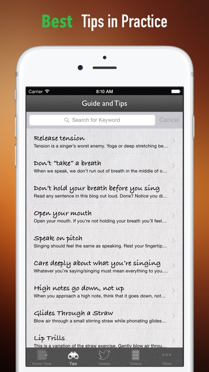 Singing Tips:New Approach and Sight Singing screenshot-3