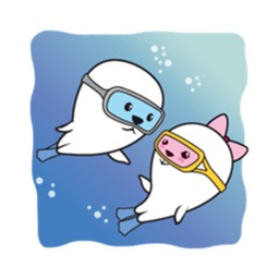 Couple Seals in Love Sticker