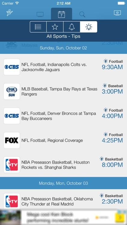 US Live Sport TV Listings screenshot-4