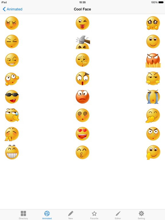 New Emojis & Smileys animated text icons emoticons-ipad-0