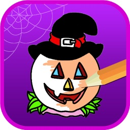 Halloween Coloring Pages - Haunted Halloween