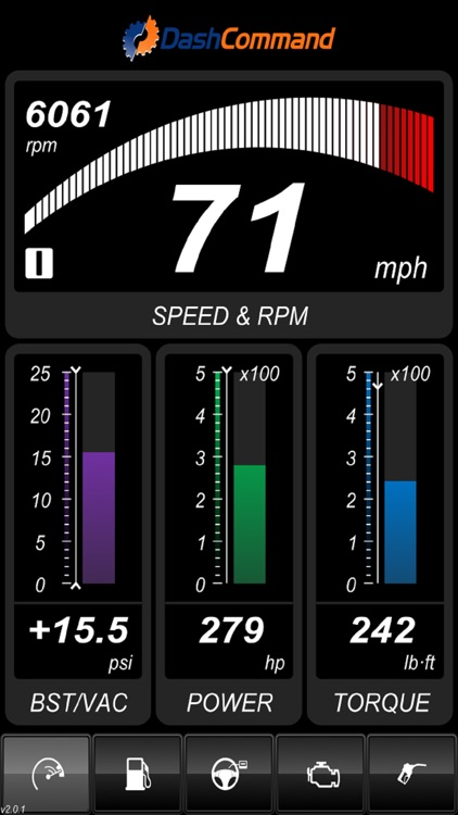 DashCommand - OBD-II gauge dashboards, scan tool screenshot-3