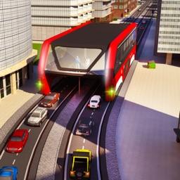 Elevated Bus Driver 3D: Futuristic Auto Driving