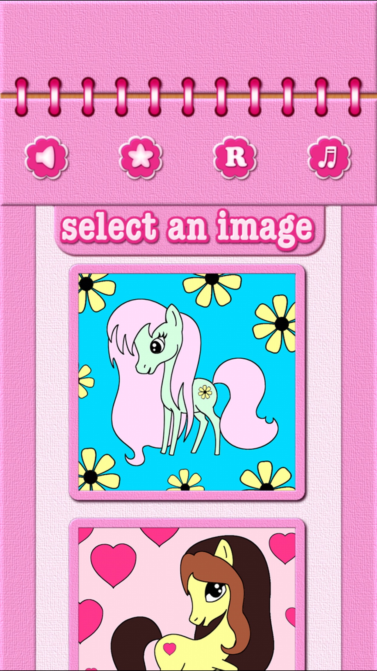 Pony Coloring Book Games for My Little Toddler Girls for Free Screenshot