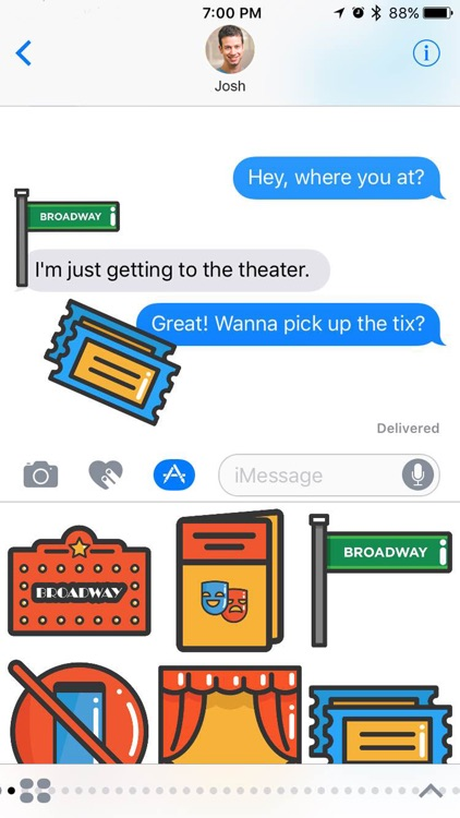 Broadway Stickers