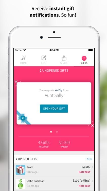 Honeyfund Wedding Registry - #1 Honeymoon Registry screenshot-3