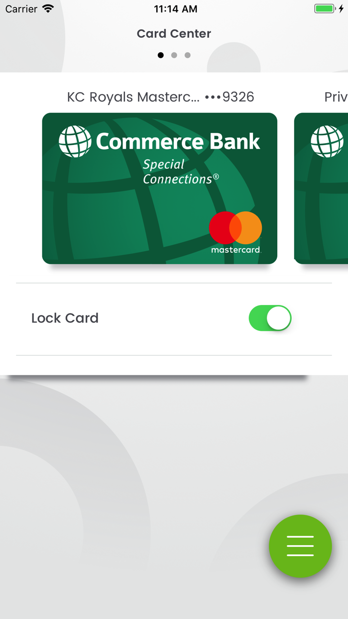 Commerce Bank for iPhone Screenshot