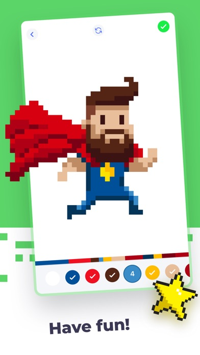 Super Pixel - Color by Number screenshot 5