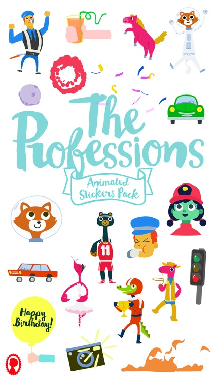 Professions Animated Stickers