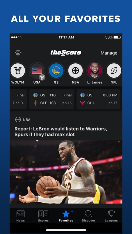 theScore: Sports News & Scores screenshot-0