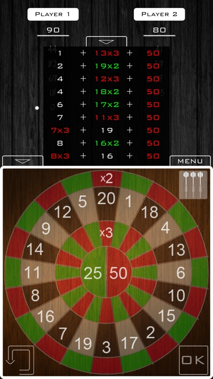 301/501 Scoreboard