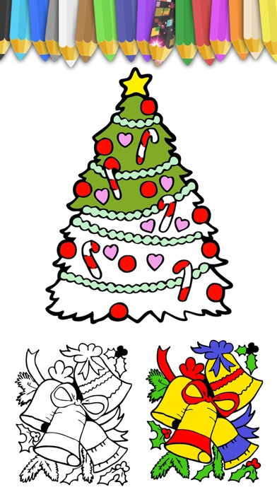 download Paint Christmas magic - Christmas coloring pages apps 3