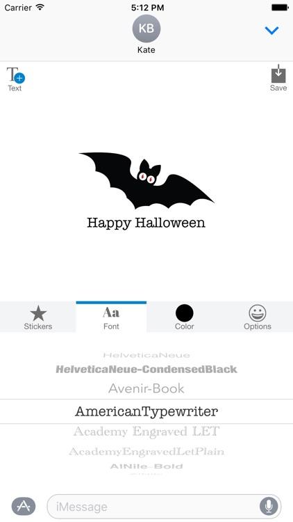 Halloween Bat, Black Cat, Ghosts, Spider - MYOSE screenshot-3
