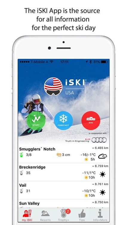 iSKI USA - The ski app