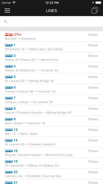 ezRide Ottawa - Offline Public Transport Trip Planner screenshot-4
