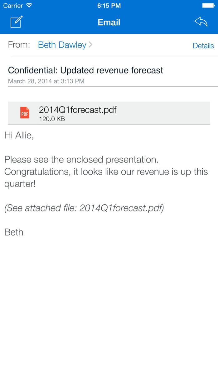 IBM Notes Traveler Companion Screenshot