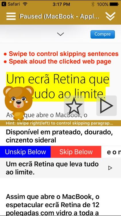 SpeakPortuguese 2 FREE (10 Portuguese TTS) screenshot-0
