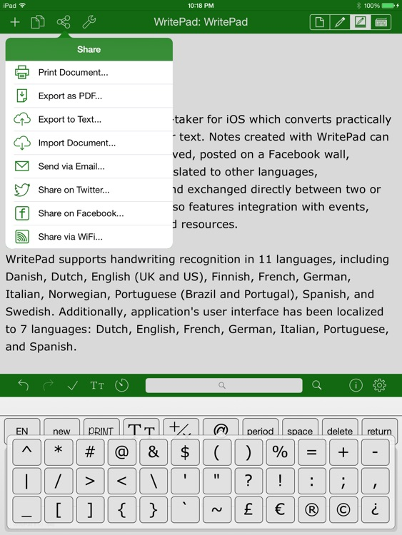 WritePad for iPad screenshot-3