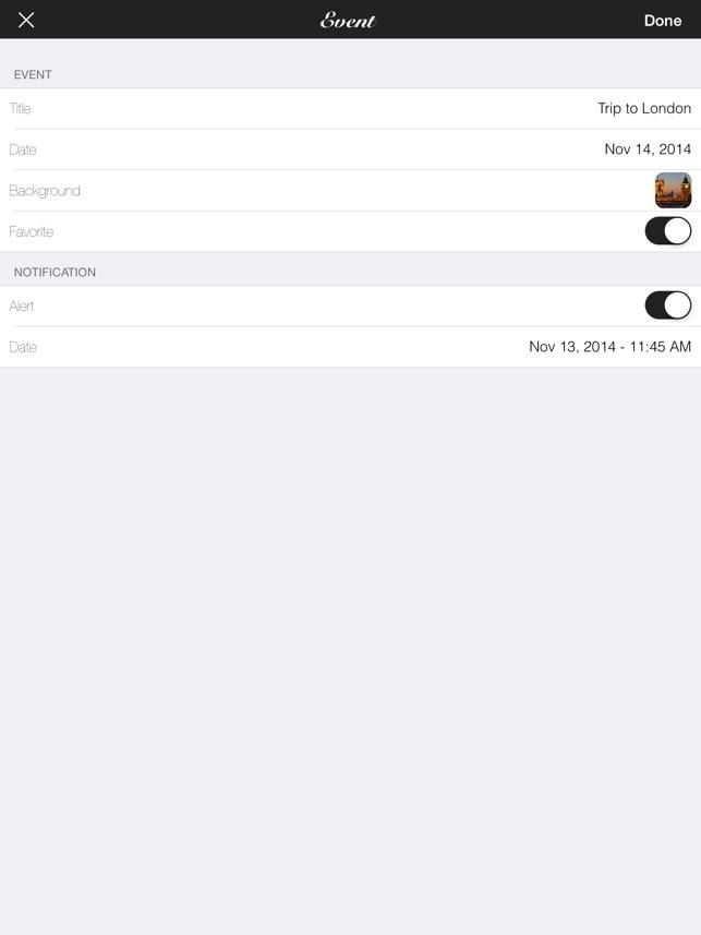 Big Days - Veranstaltungen Countdown Screenshot