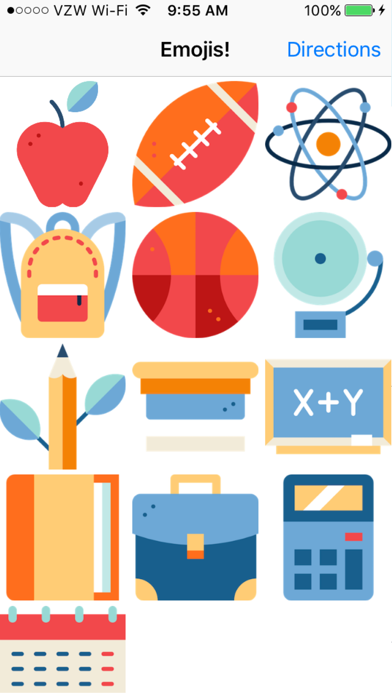 School Emoji Stickers For Text Messages