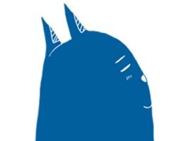Blue Cat Stickers