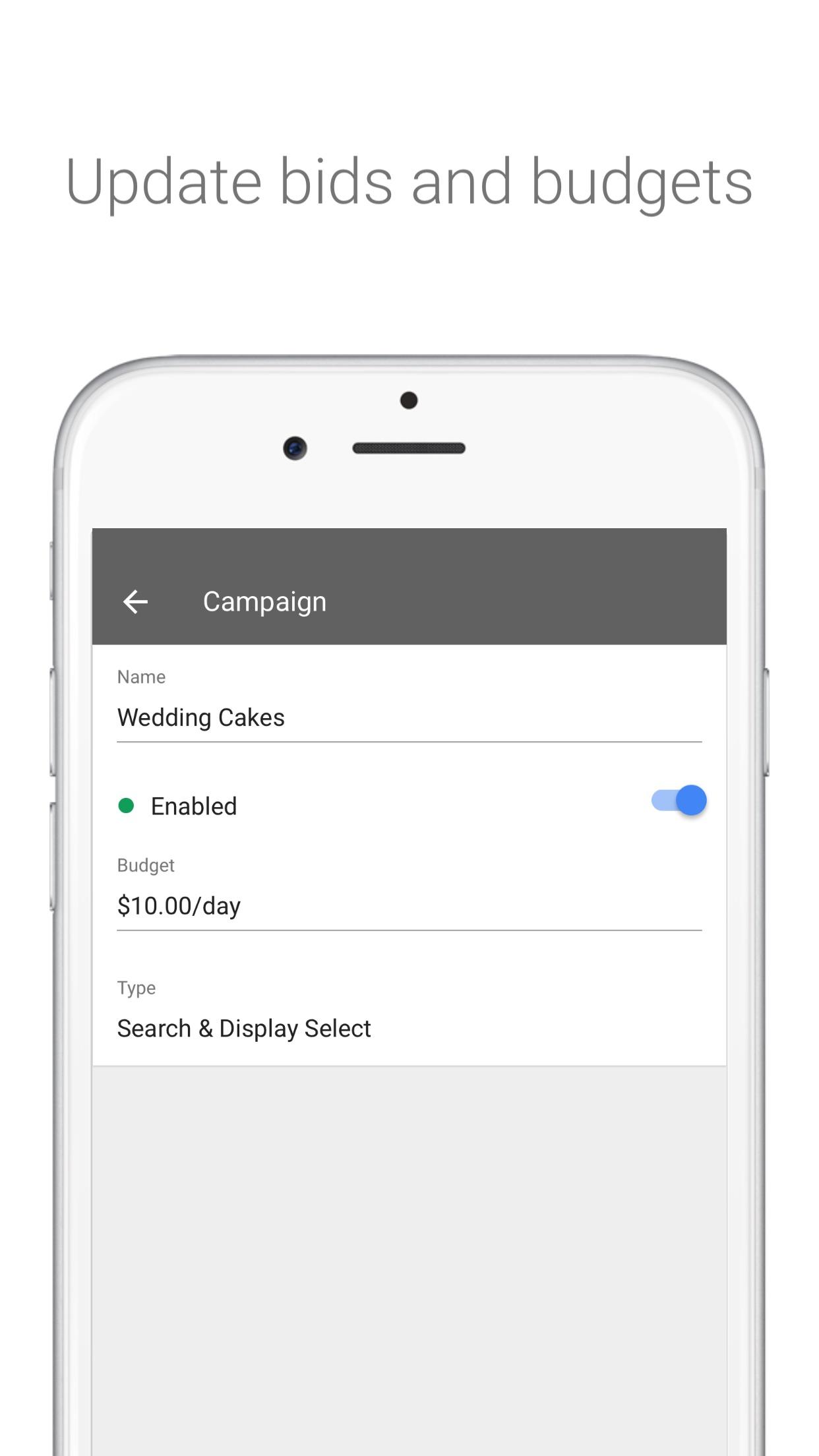 Google AdWords - Business Advertising Manager Screenshot