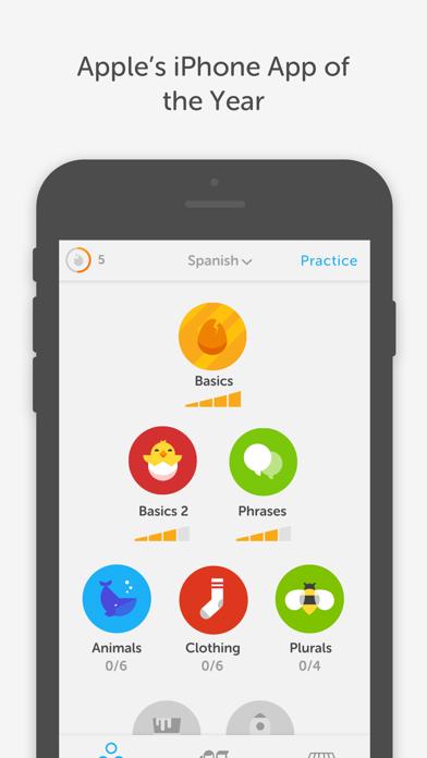 Screenshot 0 for Duolingo's iPhone app'