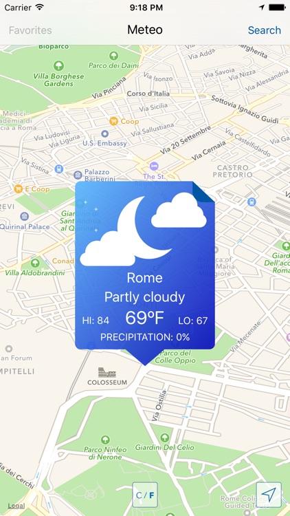 Meteo - Local Weather Forecasts and Hazard Alerts screenshot-0