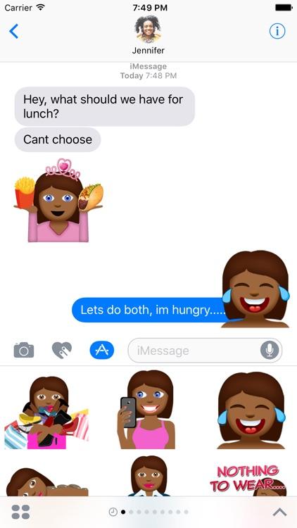 Tyra – Sassy Emoji Stickers for Women on iMessage