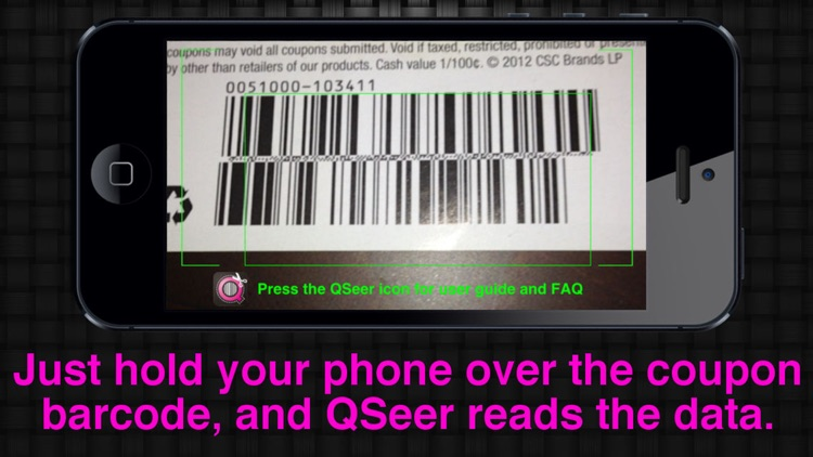 QSeer Coupon Reader app image
