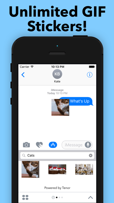 GIF Stickers for iMessage - Unlimited Packs! Screenshot