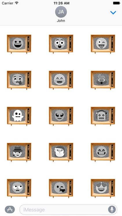 Black & White Emoji TV screenshot-2