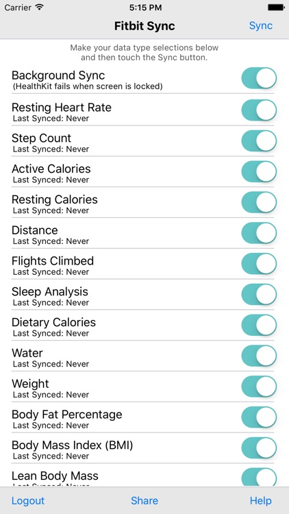 Health Sync for Fitbit screenshot-0