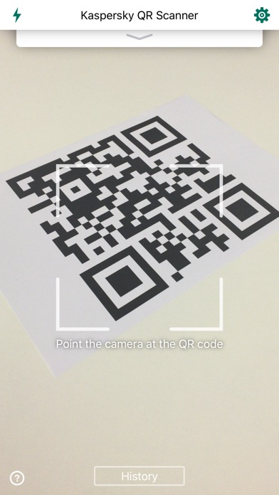 Kaspersky QR Scanner Screenshot on iOS