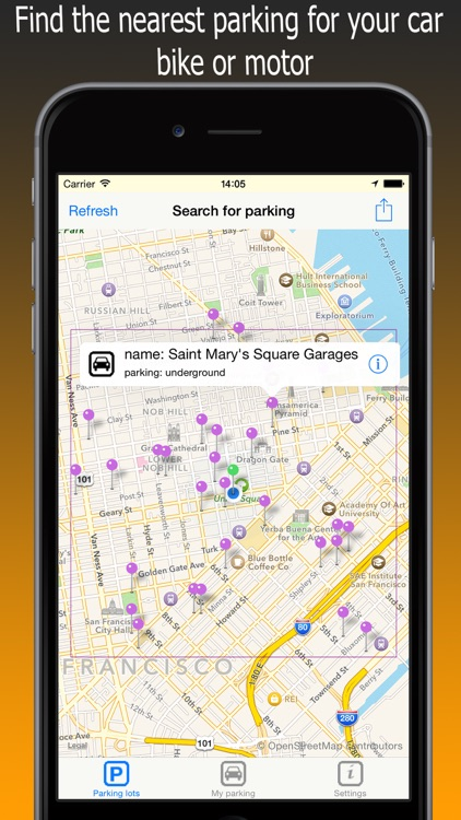 Park Assistance - find parking for your car, bike