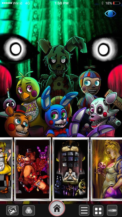 2016 FNAF Lock & Home Screen HD Wallpapers For Five Night At Freddy Edition
