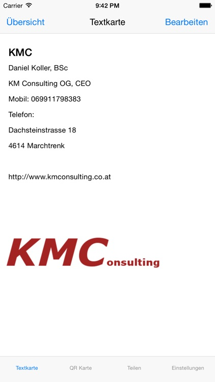 Kmc Visitenkarte Pro By Km Consulting Og