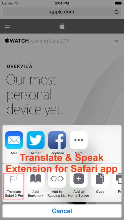 Translate 2 for Safari screenshot-0