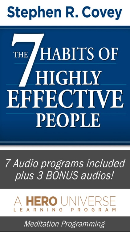 7 Habits of Highly Effective People, by Stephen Covey, Audiobook Meditation and Business Learning Program-Franklin Covey