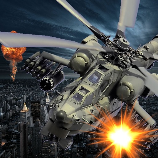 Air Combat Chopper - Game Explosions At High Speed