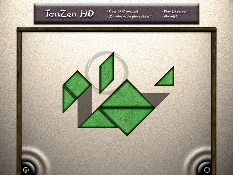 TanZen HD Free - Relaxing tangram puzzles screenshot-0